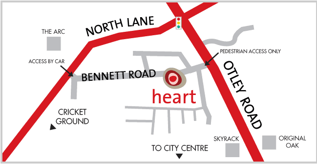 Heart centre location map